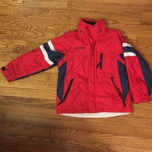 Red & Navy Columbia ski jacket size 8 youth